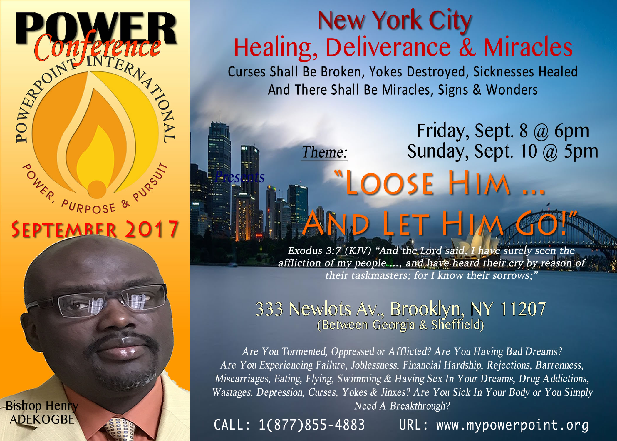 NYC Healing, Deliverance & Miracles Conference 2017